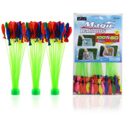 Magic Balloons ! Fill a Bunch in a Minute! 111 Balloons (Green) 3 * 37 Piece