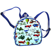 Child's Blue PVC RUCKSACK / BACKPACK - Air Transport - Early Years RUCKSACK