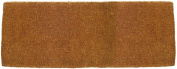 Entryways Blank Extra Thick Hand Woven Coir Doormat, 46cm by 120cm