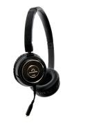 SoundMAGIC P30S Portable Headphones with Microphone - Black