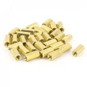 M3 Female Thread Brass Pillar Standoff Spacer 10mm Long 30 Pieces