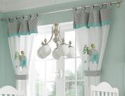 Baby Bedding Design Green Elephant 2 Curtains