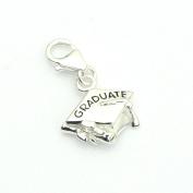 Sterling Silver Graduate Graduation Charm - Mortar Board - Graduation Gift