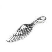 Sterling Silver Angel Wing Clip on Charm