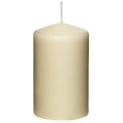 24 x Premium Quality Pillar Church Candles Unscented BULK Large Pack WeddingsColour:Ivory Size:40mm x 60mm