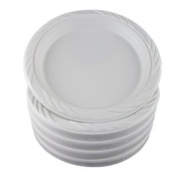 130cm X 23cm Extra Strong White Disposable Plastic Plates - Suitable for Hot & Cold Food