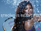 48cm x 36cm Serena Williams Silk Poster 9GS4-726