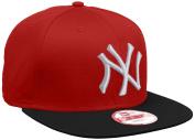New Era Men's MLB Cotton Block NY Yankees 9Fifty Snapback Baseball Cap