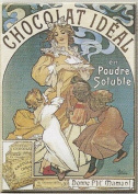 FRENCH VINTAGE METAL SIGN 20X15cm RETRO AD IDEAL CHOCOLATE