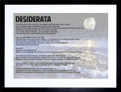 23cm x 18cm DESIDERATA EHRMANN GO PLACIDLY AMID NOISE HASTE QUOTE TYPOGRAPHY FRAMED WALL ART PRINT PICTURE PAINTING WOODEN PHOTO FRAME BLACK WHITE OAK BROWN F97X269