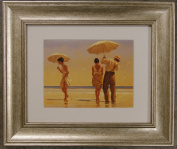 Mad Dogs by Jack Vettriano Framed Art Print Picture (33cm x 28cm) Silver Frame