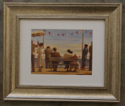The Pier by Jack Vettriano Framed Art Print Picture (33cm x 28cm) Silver Frame