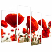 Extra Large Floral Flowers Red Poppy Canvas Wall Art XL Pictures 4056