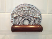 Quality Vintage Antique style Chrome Finish solid brass Toilet Roll Holder wall mounted Loo Paper dispenser