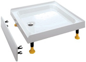 Coram Showers YD183WHI 1000 x 800mm 3-Tiling Upstand Shower Tray