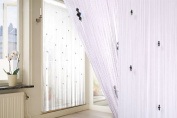 """New """"Sparkle"""" White Beaded Fly Insect Door Curtain Screen 100 x 200cm"""