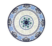 Set of 6 Classic Chinese Style Round Melamine Blue & White Placemats