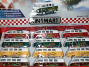 Volkswagen Classic Bus 1962 Flower Power Camper With Groovy Surfboard. Official VW Product