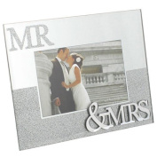 MR AND MRS MIRROR GLITTER PICTURE PHOTO FRAME GIFT WEDDING ANNIVERSARY 6 X 4 NEW