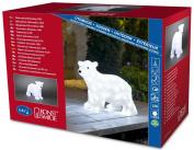 Konstsmide Medium Standing Polar Bear with 64 LEDs, Ice White