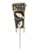 Cemetery Grave Vase with Metal Spike - In Loving Memory of a Dear DAD plaque. Includes black plastic insert vase.