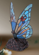 Blue Butterfly Tiffany Style Table/ Decorative Lamp