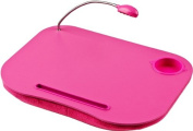 Laptop Tray Lap Desk Portable Pink Led Light Cushion Desk Ideal For Reading Writing Study