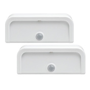 Mr. Beams MB702 Wireless Battery-Powered Motion-Sensing Mini Stick-Anywhere LED Nightlights, 2-pack, White