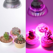Xcellent Global 12 LED Plant Grow Light Bulb -12W E27(3 Blue LED & 9 Red LED) Hydroponic Lamp for Indoor Flower Plants Growth Vegetable Greenhouse 85-265V LD048