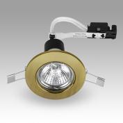 MiniSun Antique Brass Recessed GU10 Ceiling Downlight Fitting