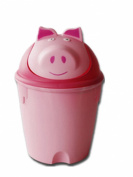 Moolecole Creative Cute Pink Pig Plastic Trash Bin Table Office Desk Mini Dustbin Trash Can