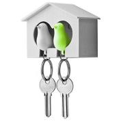 leading-star Lover Sparrow Key Ring Birdhouse Keychain
