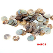 TOOGOO(R) Lot 100 Mother of Pearl Round Shell Sewing Buttons 15mm HOT