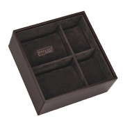 STACKERS - Men's Executive Brown Square Watch STACKER with Brown Velvet Finish Lining