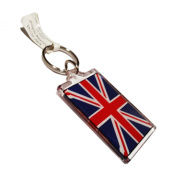 Union Jack UK London Souvenir Key Ring / Key Chain Flag Travel London Quality Acrylic Keychain / Keyring Schlusselring / llavero / porte-clés / Portachiavi Iconic Gift Tote.
