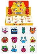 12 x Childrens Kids Temporary Tattoos Transfers Toys Party Loot bag Fillers Monsters