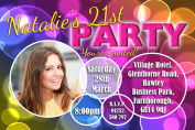 10 Personalised 18th 21st 30th 40th 50th 60th Adult Birthday Party PHOTO Invitations N180 - ANY AGE