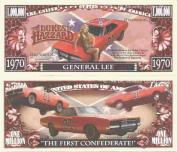 Novelty Dollar The Dukes of Hazzard General Lee Million Dollar Bills x 4 Bo Luke Dodge Charger