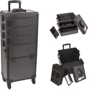 Sunrise Outdoor Travel Black Diamond Trolley Makeup Case - I3361