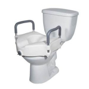 2 in 1 Locking Elevated Toilet Seat with Tool Free Removable Arms, 140kg Weight Capacity