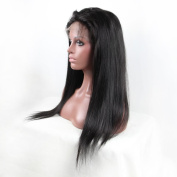 AM Youth Human Hair Lace Front Wig Glueless Lace Front Human Hair Wigs Straight Natural Colour Size 46cm