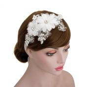 Wedding Bridal Rhinestone Lace Headpiece Ribbon Headband