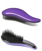Herstyler De-Tangle Brush - Professional Detangling Hairbrush - Pink, Purple or Blue