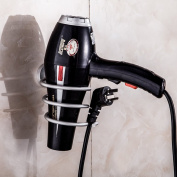 Aluminium Wall Mount Spring Style Hair Dryer Holder Rack