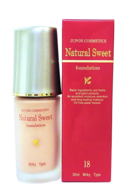 JUPON COSMETICS Natural Sweet foundation 18 Pale Pink 30ml