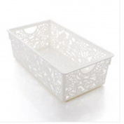 Plastic flower hollow desktop bathroom thicken hollow storage basket