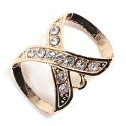 PendantScarf Rhinestones Simple Style Jewellery Scarf Clasp Gold