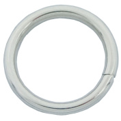 """Bluemoon 100 Pcs - 12mm 1/2"""" Metal O-rings Rings Non Welded"""