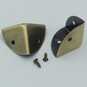 "Bluemoona 20 Pcs - 1"" 25MM Triangle Wooden Box Case Edge Corners Protectors Bracket with Screw"