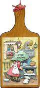 Wooden Bread Board w/ 6 Print Kit